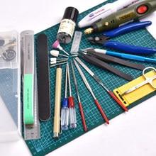 Novo modelo de ferramentas de construção para gundam, hobby, modelo militar, diy, acessórios, conjunto de ferramentas de polimento, tapete de corte