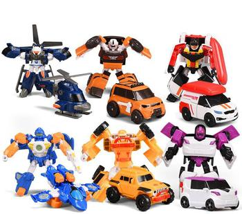 8 estilos de juguetes jóvenes transformador Tobot Robot juguetes Z Corea dibujos animados deformación Brothers Anime Tobot deformación coche juguetes para niños