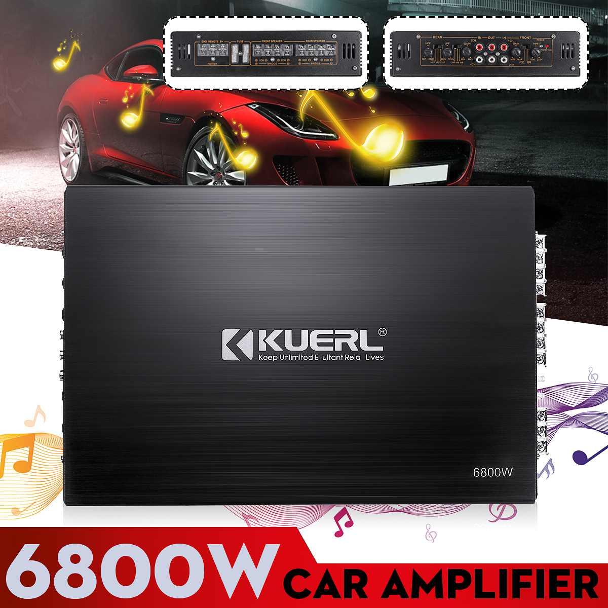 KROAK Car Audio Amplifier  6800W 4 Channel  DC 12V Stereo Amp Auto Audio Power Amplifier For Car