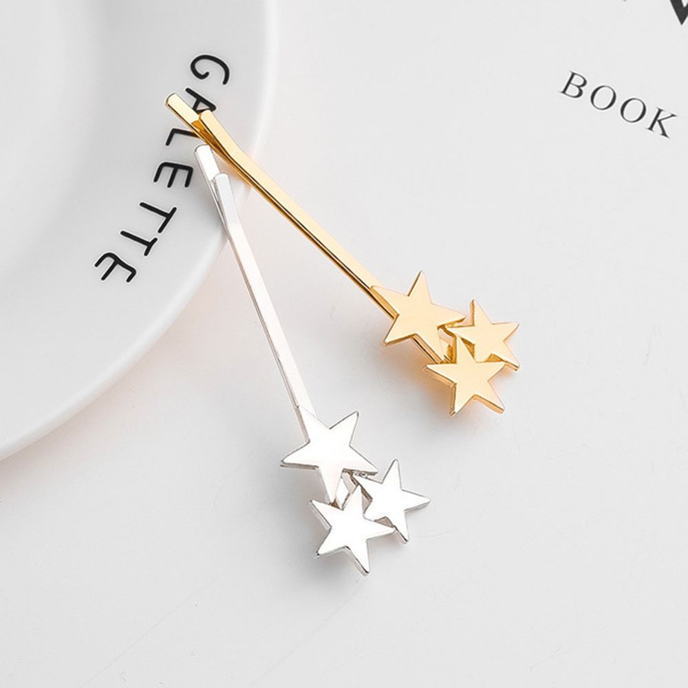 Geometric Stars Hair Clips For Women Hairgrip Gold Sliver Barrettes Metal Hairpin Girls Hair Accessories