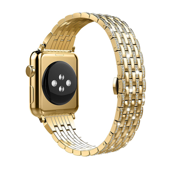 Luxury Diamond strap for Apple watch band 44mm 40mm series 6/SE/5/4/3/2/1 iwatch band 42mm 38mm 44 mm stainless steel bracelet