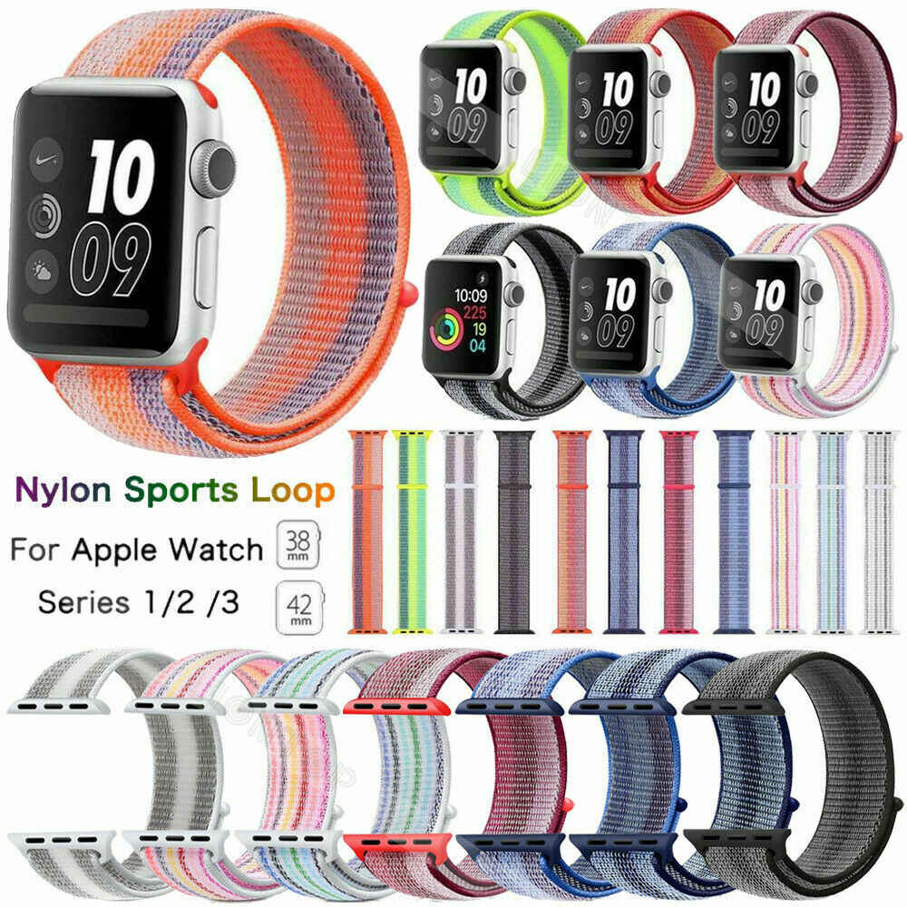 Newest Color Nylon Watch Band For Apple Watch Series 3/2/1 Smartwatch Replacement Strap For Iwatch Soft Breathable Sport Loop