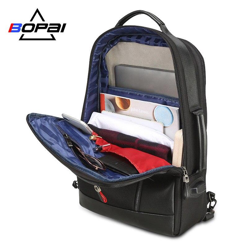 BOPAI Anti vol agrandir sac à dos USB Charge externe 15.6 pouces sac à dos pour ordinateur portable hommes étanche école sac à dos sacs pour adolescent - 6