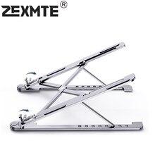 Soporte de aluminio para portátil, base plegable para Macbook, ajustable, para Dell, iPad pro, refrigeración antideslizante