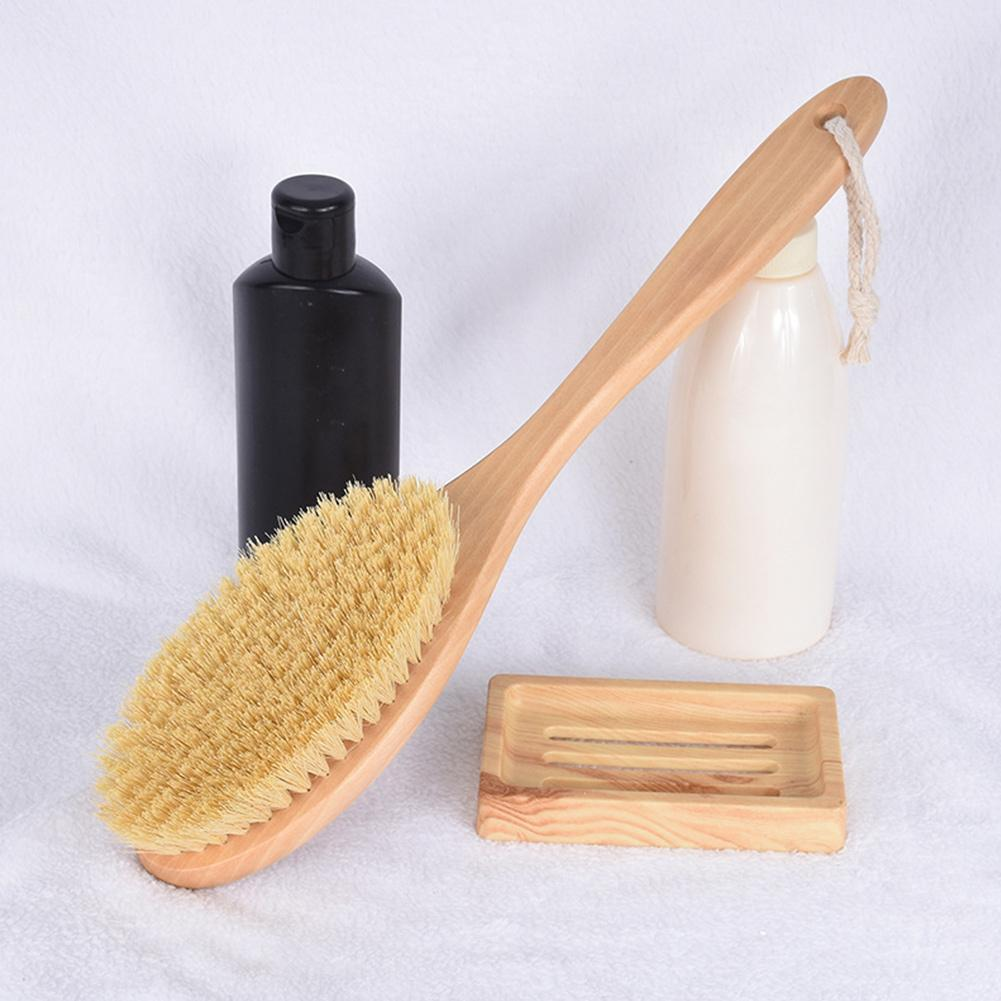 Natural Sisal Exfoliating Dry Brush Wooden Massage Body Brush Plant Fiber Cactus Massage Brush 2021 Hot Sale