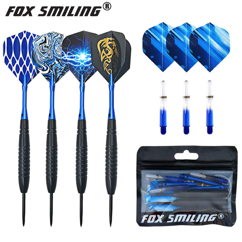 Fox Smiling 3pcs 23g 150mm Professional Steel Tip Darts With Aluminum Darts Shafts With Dart Accessories Indoor Dartboard Games