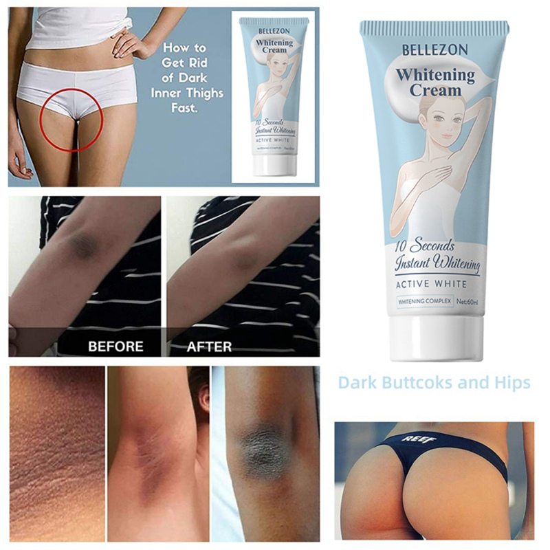 60ml Moisturizing Nourishing Cream Leg Knees Private Underarm Repair Cream Armpit Whitening Intimate Bright Cream Body Skin Care