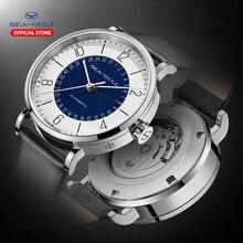 Seagull relógio masculino e feminino moda personalidade relógio mecânico calendário à prova dwaterproof água couro casal 819.97.6052