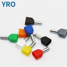 1000 peças/packet te 2508 latão frio pressionado redondo fio terminal conector
