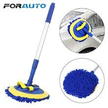 FORAUTO spazzola per pulizia Auto telescopica manico lungo spazzola per lavaggio Auto strumenti per la pulizia scopa in ciniglia accessori Auto pulizia Mop