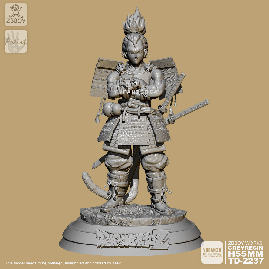 55mm Resin Figure Kits Samurai Vegeta Self-assembled TD-2237