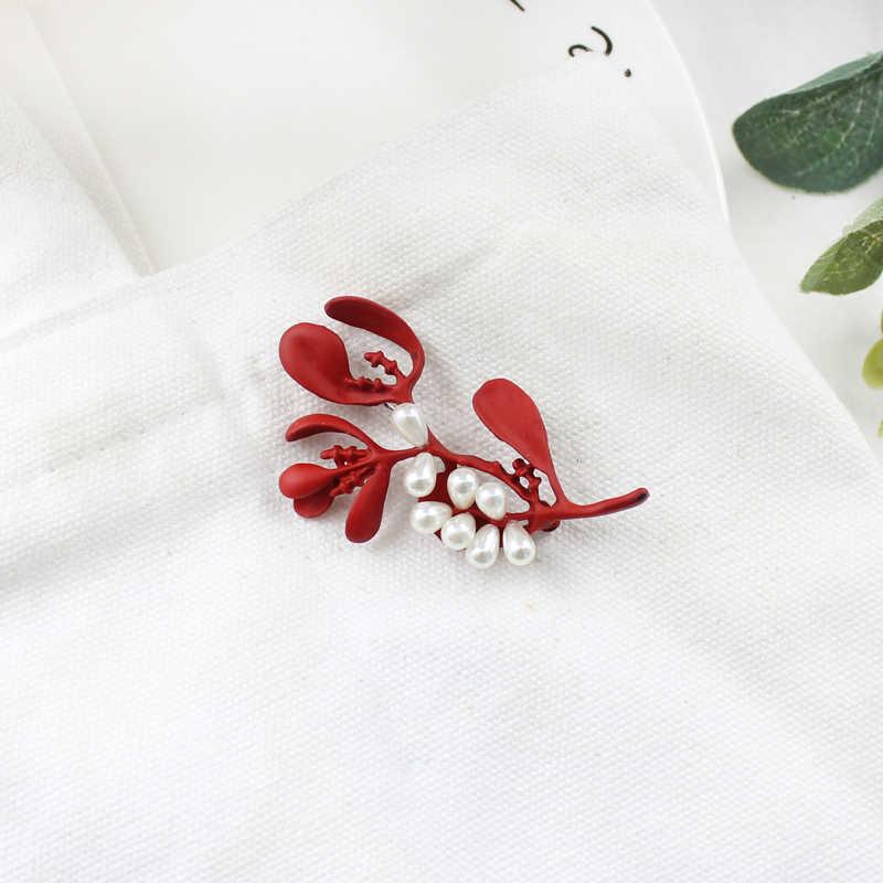 Преувеличенная брошь с растительным хвостом собаки трава жемчуг креативная краска модная булавка для воротника брошь леди вязаное платье ретро булавка ювелирные изделия