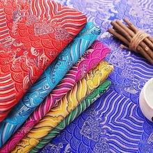114センチメートルサテンシルク生地ブロケードジャカードパターン衣服生地diyパッチワークデザイン素材縫製のためにチャイナ