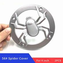 2 adet 4 inç örümcek hoparlör kapağı 124mm daire koruyucu ızgara hoparlör dekorasyon Net DIY hoparlör kapağı