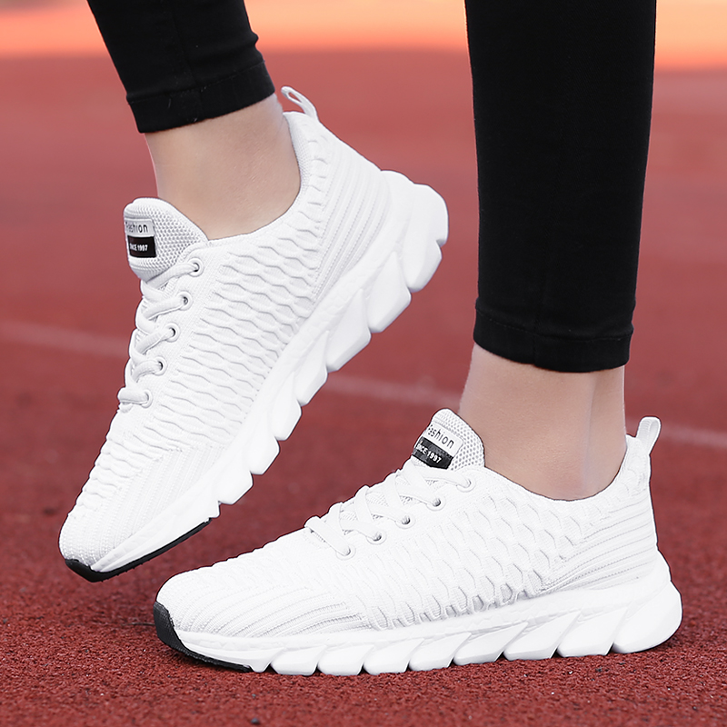 2019 Mesh Women Sneakers Breathable Women Flat Shoes Lightweight Casual Shoes Ladies Lace-up Deportivas Mujer Chaussures Femme 5