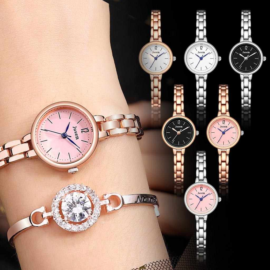 2019 Fashion Simple Brand Montre Hot Vrouwen Horloge Roestvrij Stalen Band Pin Gesp Dames Klok Quartz Horloges Reloj Mujer
