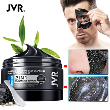 JVR Black Mask For Face Skin Care Bamboo Charcoal Facial Masks Remove Blackhead Dot Acne Peeling Mask Facial Nose Deep Cleansing