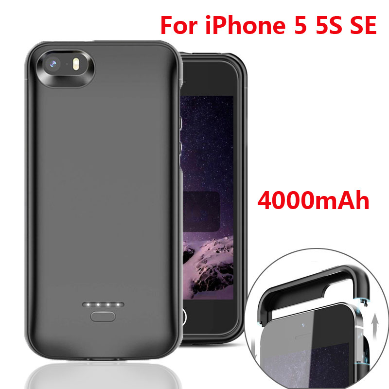 Ultra Thin 4000mAh <font><b>Battery</b></font> Charger <font><b>Case</b></font> For <font><b>iPhone</b></font> 5 <font><b>5S</b></font> SE Charging Phone Power Cover For <font><b>iPhone</b></font> SE 5SE 5 <font><b>5S</b></font> <font><b>battery</b></font> <font><b>Case</b></font> image