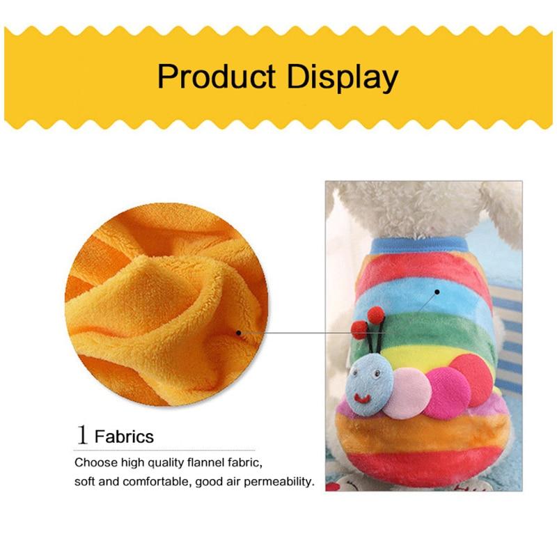 Популярная фланелевая одежда с рисунком милой собаки для маленьких собак, мягкие теплые свитера для домашних собак, куртка для маленьких собак-4