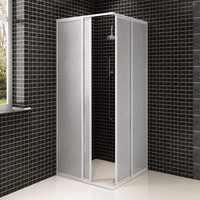 VidaXL Shower Bath Screen Wall 2 Fixed Panels And 2 Sliding Doors Foldable Aluminum Frame Bath Screen 80 X 80 Cm For Bathroom