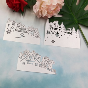 Image 2 - Christmas card metal cutting knife die 2019 new DIY scrapbook, used for card paper card decoration mold