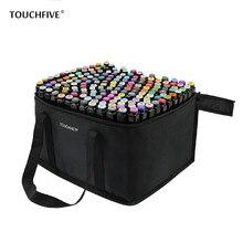 Touchcinco marcadores artísticos conjuntos de 30/40/60/80/168, marcadores de esboços de cores para desenho, tinta baseada em álcool manga caneta de escova de cabeça dupla,