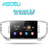 Asottu KI605 IPS android 9.0 PX6 car dvd for KIA sportage 4 QL 2016 2017 2018 gps navigation 1 din car stereo head unit