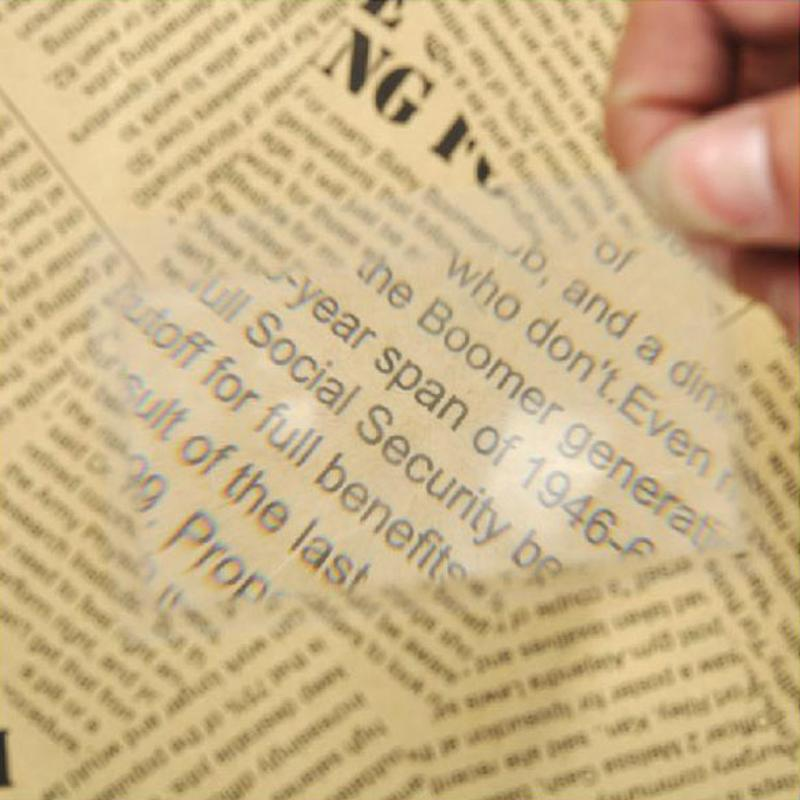 1pc 3 X Magnifier Magnification Magnifying Fresnel LENS Pocket Credit Card Size Transparent Magnifying Glass Loupe 8.5 X 5.5cm