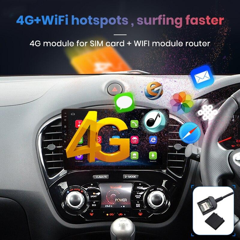 Junsun V1 Android 9,0 2G + 32G DSP автомобильный Радио Мультимедиа Видео плеер для Nissan Juke навигация gps 2din Авторадио