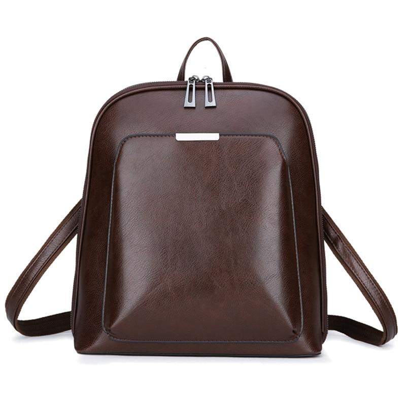 2020 Fashion Women Backpack Strap Leather Female Zipper Softback Waterproof Backpacks For Teenage Girls School Bag PU Women Bags Backpacks     - title=