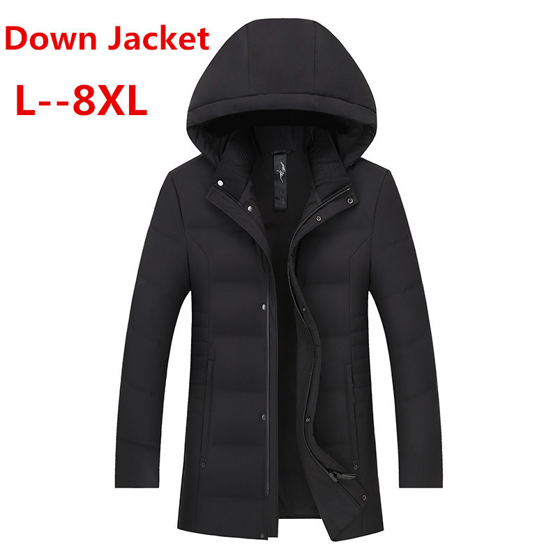 8XL 6XL 5XL 4XL  Thicken Warm Winter Duck Down Jacket For Men Fur Collar Parkas Hooded Coat Plus Size Overcoat Western Style