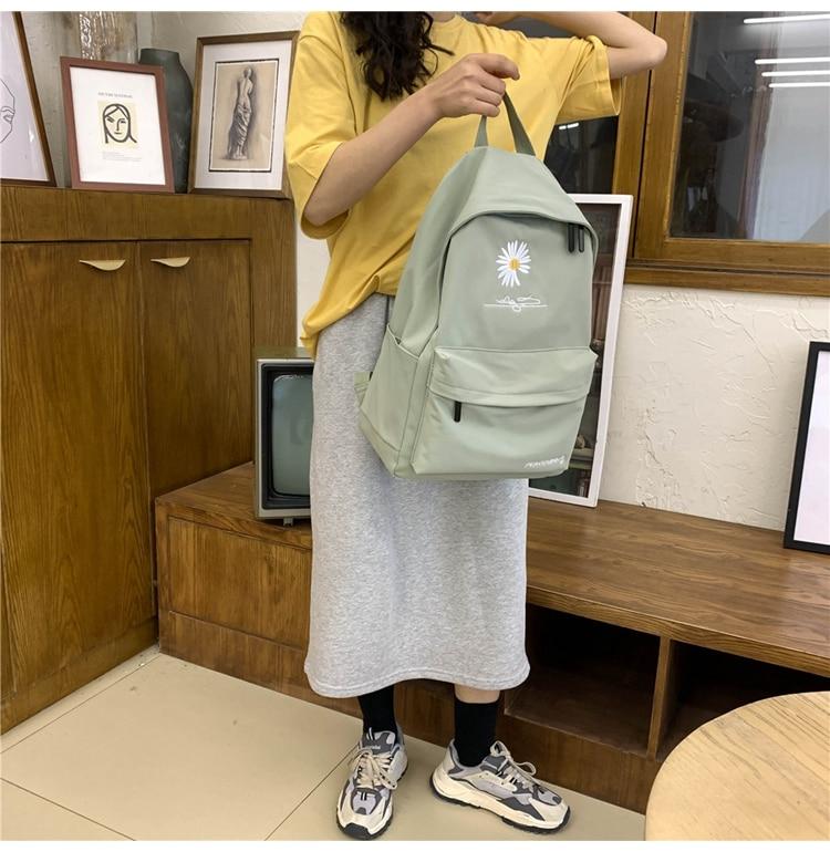coreano clássico preto preppy estilo moda sacos de escola para adolescentes