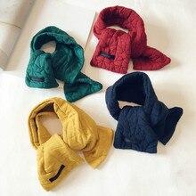 Korean Solid Cotton Soft Warm Autumn Winter Thick Kids Children Boys Girls Shawls Scarves Accessories-LHC
