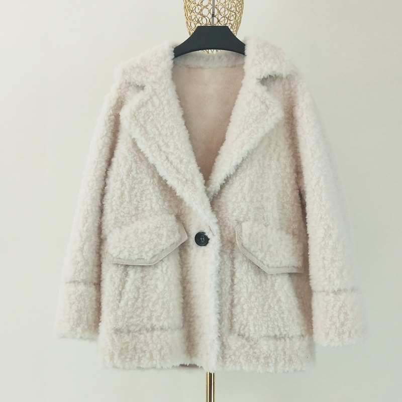 Winter Women's Clothing 2020 New Korea 100% Wool Coat