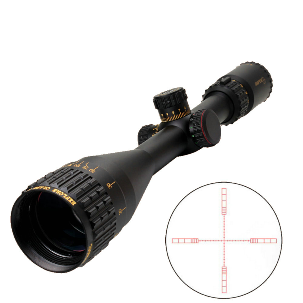 SNIPER NT 6-24X50 AOGL Hunting Tactical Optical Sight Full Size Glass Etched Reticle RGB Llluminate Rifle Scope With Large Lens