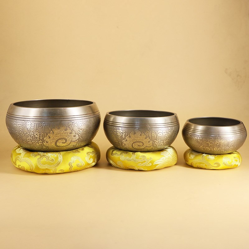 New Nepal Handmade Tibetan Singing Bowl Set Decorative-wall-dishes  Resonance Healing Meditation Yoga Bowl With Mallet