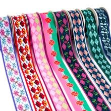 New Kimetsu No Yaiba Grosgrain Ribbon Printed Japanese Flower Satin Tape for DIY Crafts