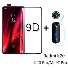 2 In 1 9D Tempered Glass Kamera Lensa Pelindung Layar untuk Xiao Mi Mi 9T PRO 9 8 A2 a3 Lite Merah Mi 7A K20 Note 5 6 7 Pro Cover Film(China)