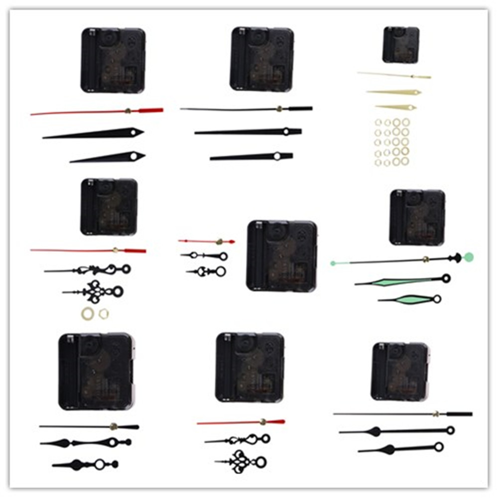 1 Set Hanging DIY Quartz Watch Silent Wall Clock Movement Quartz Repair Movement Clock Mechanism Parts With Needles