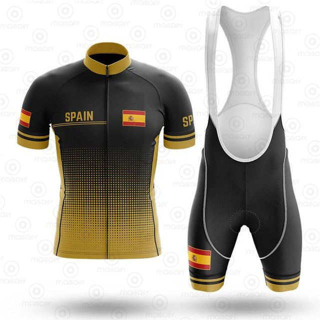 2020 Spain Cycling Jersey Set Breathable Pro Team Bicycle Jersey Men Cycling Clothing Bib Shorts Triathlon Suit Bike Wear Jersey