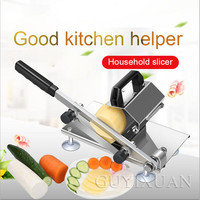 Household Small meat slicer Mutton roll slicer stainless steel Manual Frozen cut beef roll machine Fruit and vegetable Slicer|Electric Slicers| |  -
