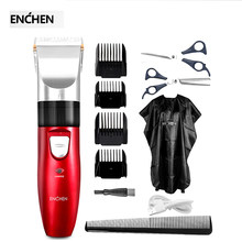 ENCHEN Sharp Haar Trimmer Elektrische Haar Cutter Hause USB Haar Clipper Wiederaufladbare Keramik Schneiden Head Low Noise(China)