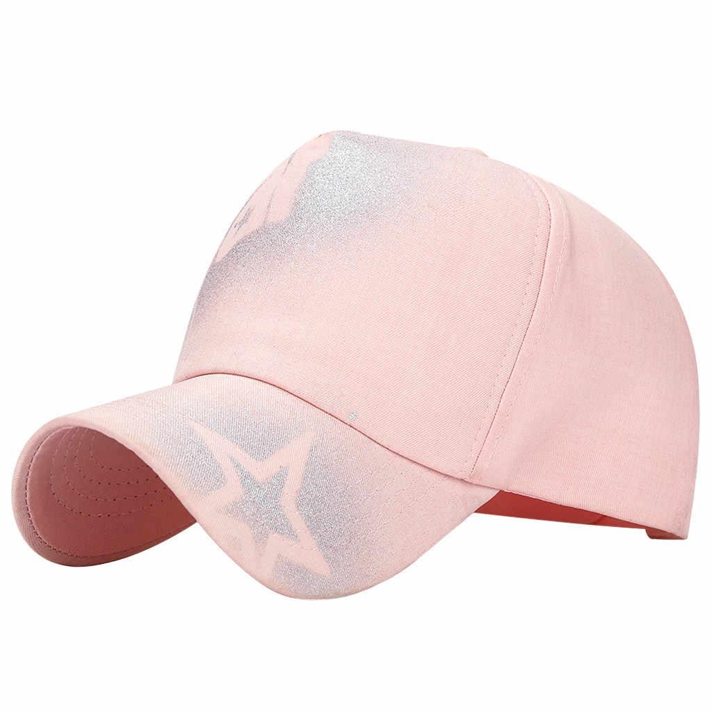 2019 Fashion Wanita Pria Vintage Topi Semprotan Tangan Bintang Padat Warna Snapback Bisbol Cap Kolam Matahari Topi Adjustable Olahraga Topi