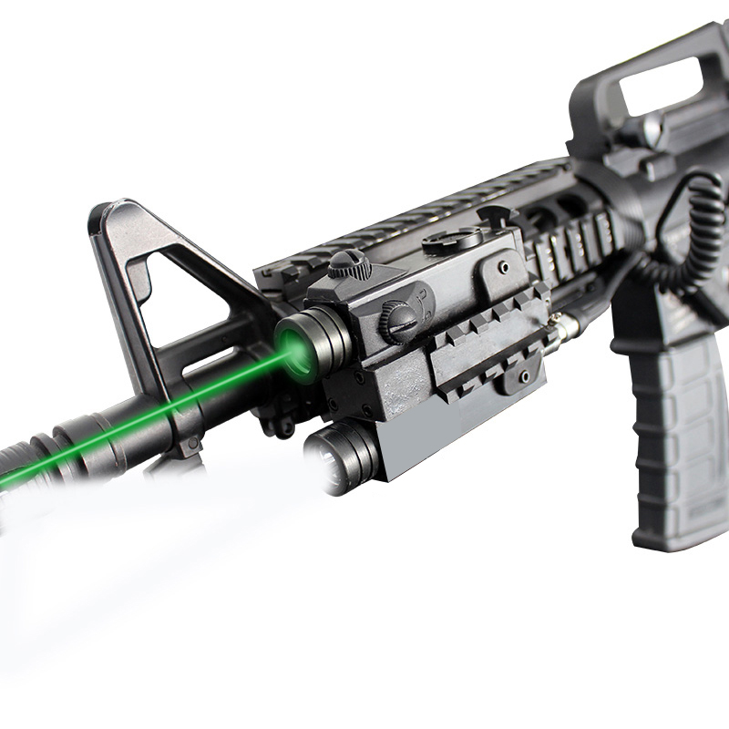 Tactical Gun Laser Flashlight Combo AR15 AK47 Rifle Green Red IR Laser Pointer Sight For Hunting