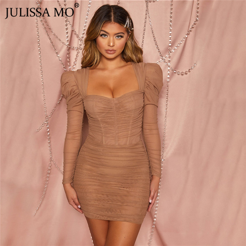 JULISSA MO mesh bodycon dress 2020 spring party dress (13)