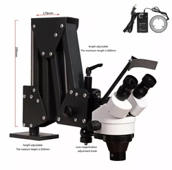 Ювелирные изделия оптические инструменты супер прозрачный микроскоп с подставкой для лупы Алмазный микроскоп с светодиодный светильник и...