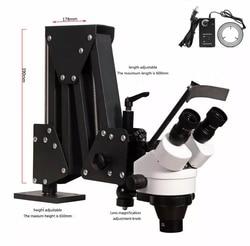 Schmuck Optische Werkzeuge Super Klar Mikroskop mit Lupe Stand Diamant Einstellung Mikroskop mit LED Lichtquelle