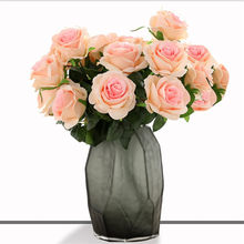 Artificial Flower 9-Head Bunch of Roses Bride Holding Artificial Rose Floral Home Decoration Wedding Supplies