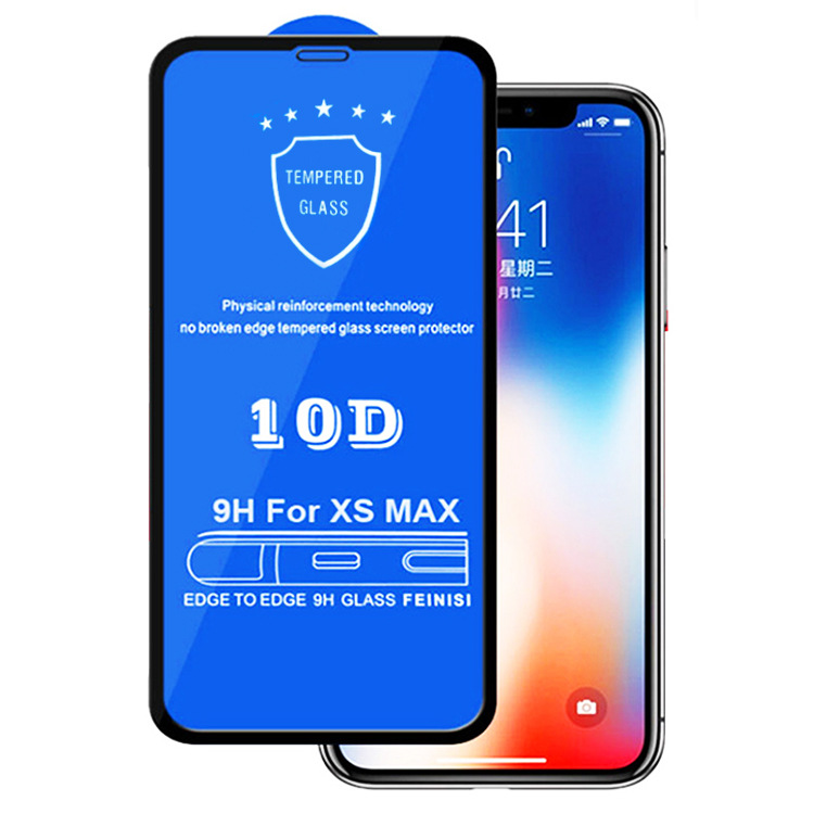 Ekvinor 100pcs DHL For iphone XS Max XR X Tempered Protective Glass 10D Full Cover Screen Protector for iPhone 6 7 8 6S Plus Phone Screen Protectors    - AliExpress