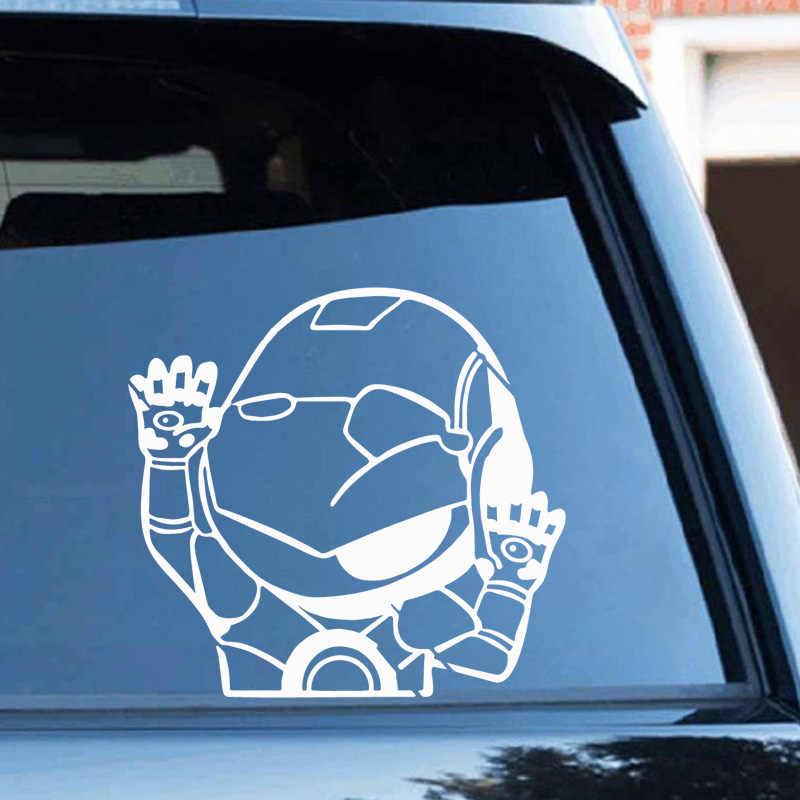 O Envio gratuito de Homem De Ferro Adesivos de Carro Decalques Decalques Vinis Moda Criativa Cabeça Styling Adesivos de Carro de Corpo Inteiro